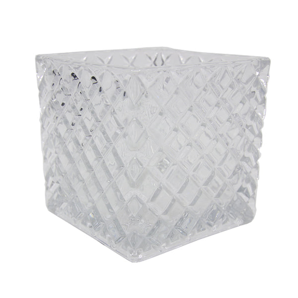 Cristall Square Clear Jar