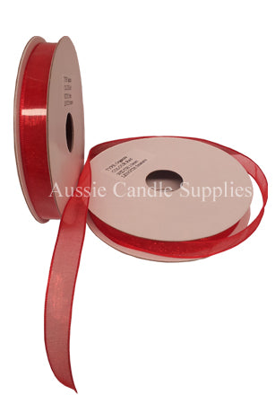 Organza Red 10mm <5m>