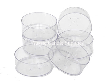 Lot of 50 Clear Polycarbonate Plastic Maxi Tealight Cups Melt Cups