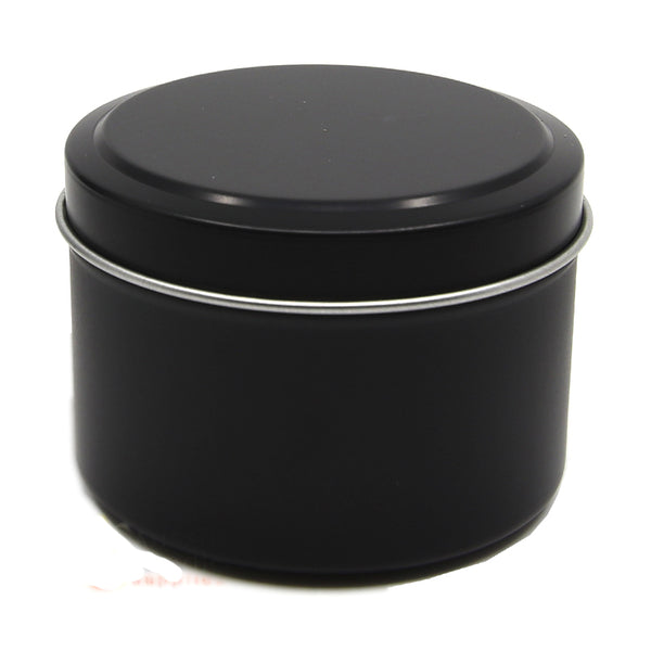Candle Tin Matt Black 120gm