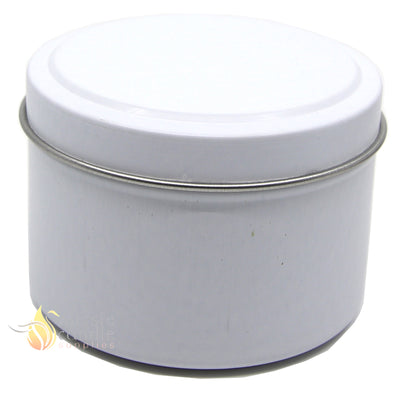 Candle Tin Matt White 120gm