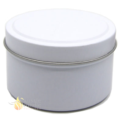 Candle Tin Matt White 170gm