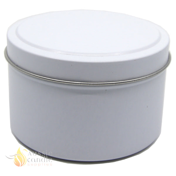 Candle Tin Matt White 225gm