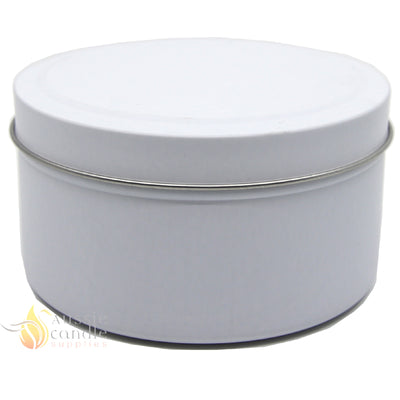Candle Tin Matt White 283gm
