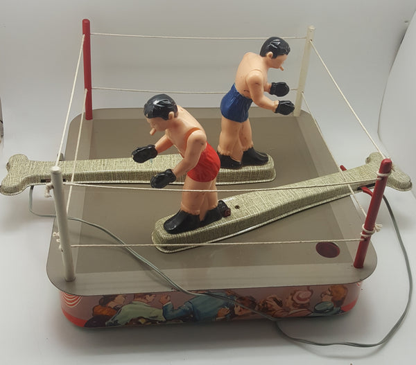 Circa 1950's Knockout Electronic Boxing Tin Toy Game in Original Box Model 777