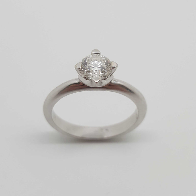 18ct White Gold 0.73ct Solitaire Diamond Ring