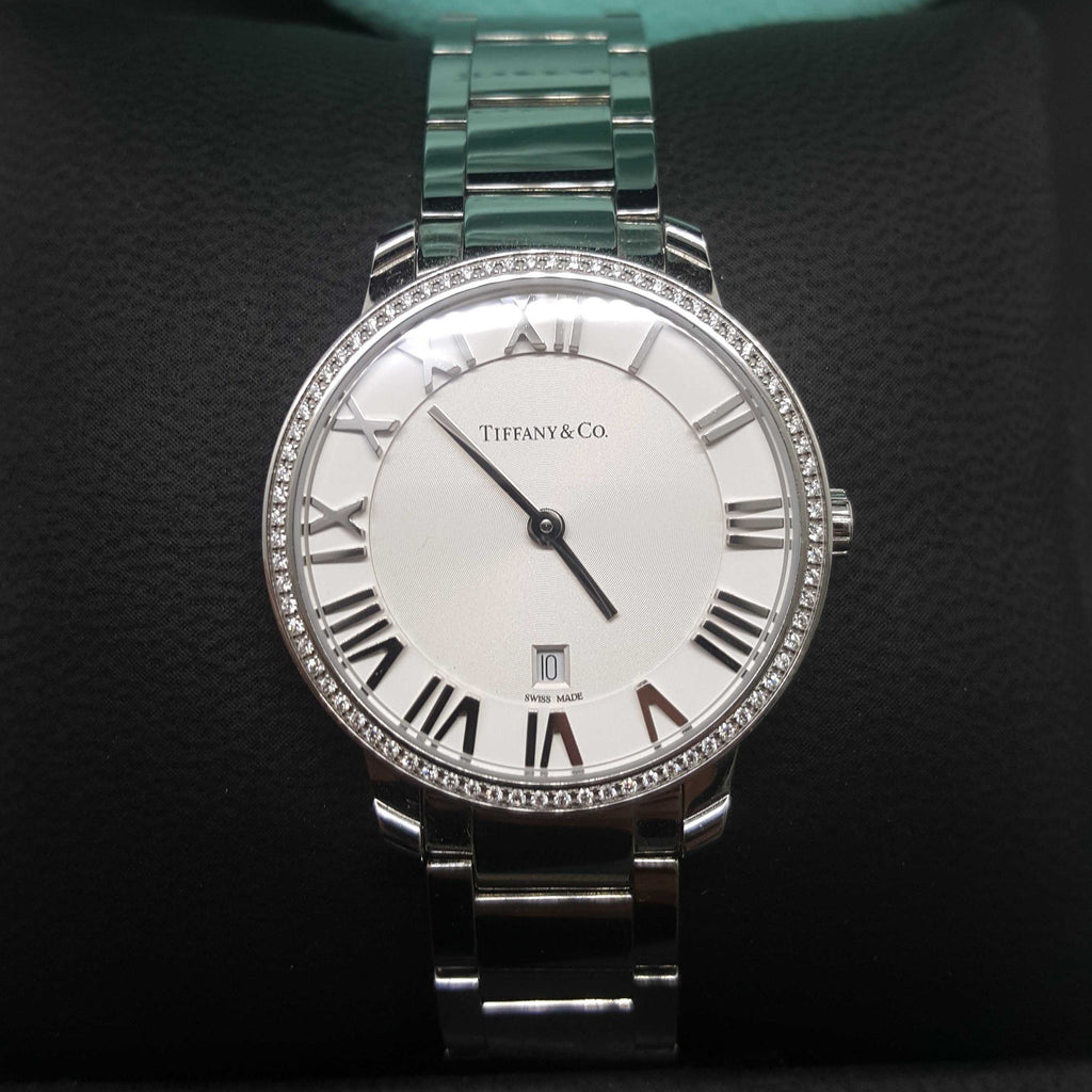 Tiffany and Co Diamond Encrusted Atlas Watch