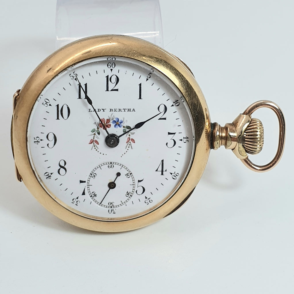 Lady Bertha Gold Filled Pocket Watch | AGD