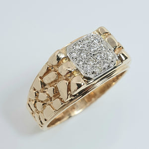 14ct Yellow Gold Diamond Cluster Ring
