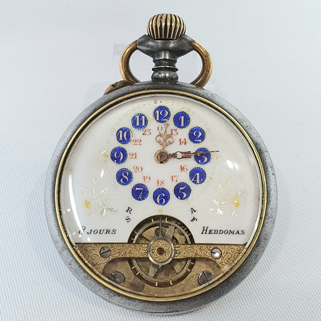 Ancre 8 Jours Hebdomas (8 Day Week) Pocket Watch (France)