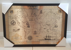 Franklin Mint Sterling Silver Map of the World - Circa 1974