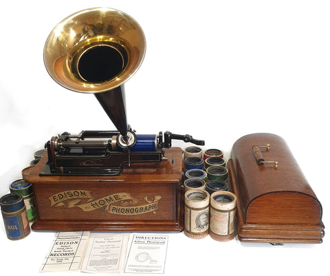 Edison 1905 Home Phonograph with reels