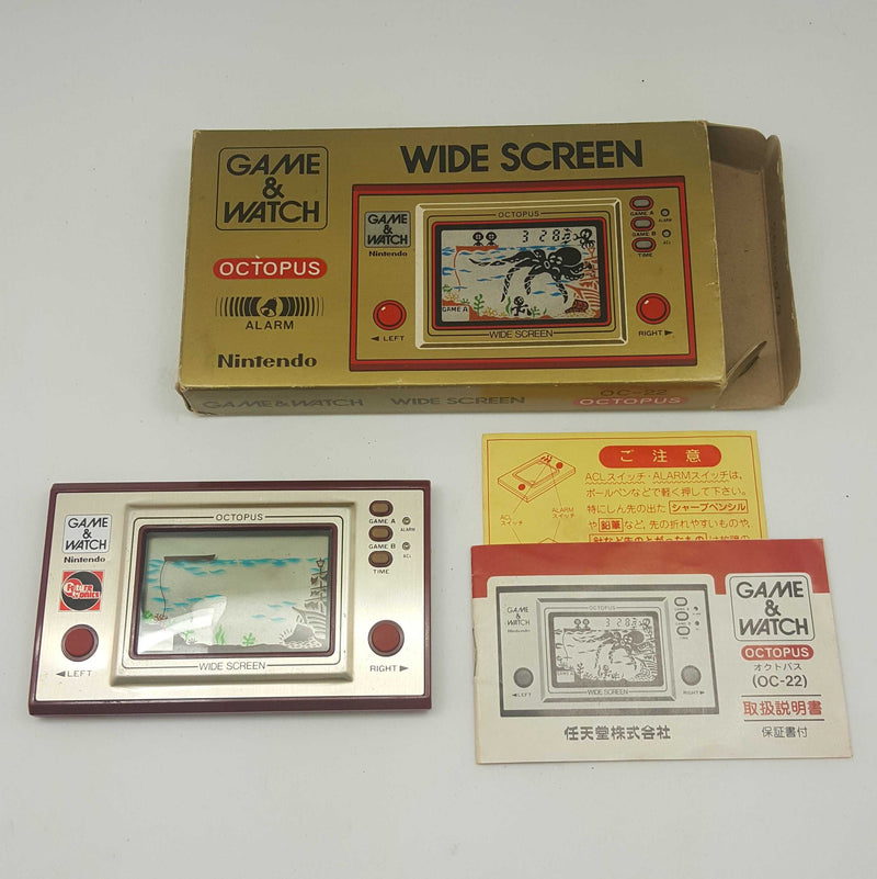 Nintendo Game and Watch Octopus (OC-22) Boxed