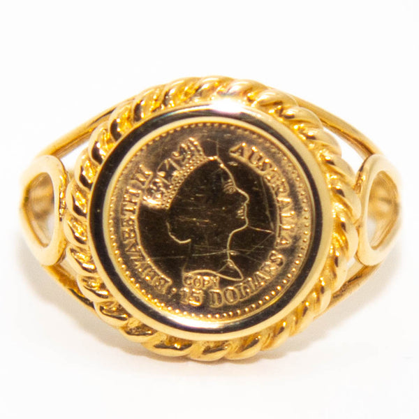 14ct Coin Signet Ring