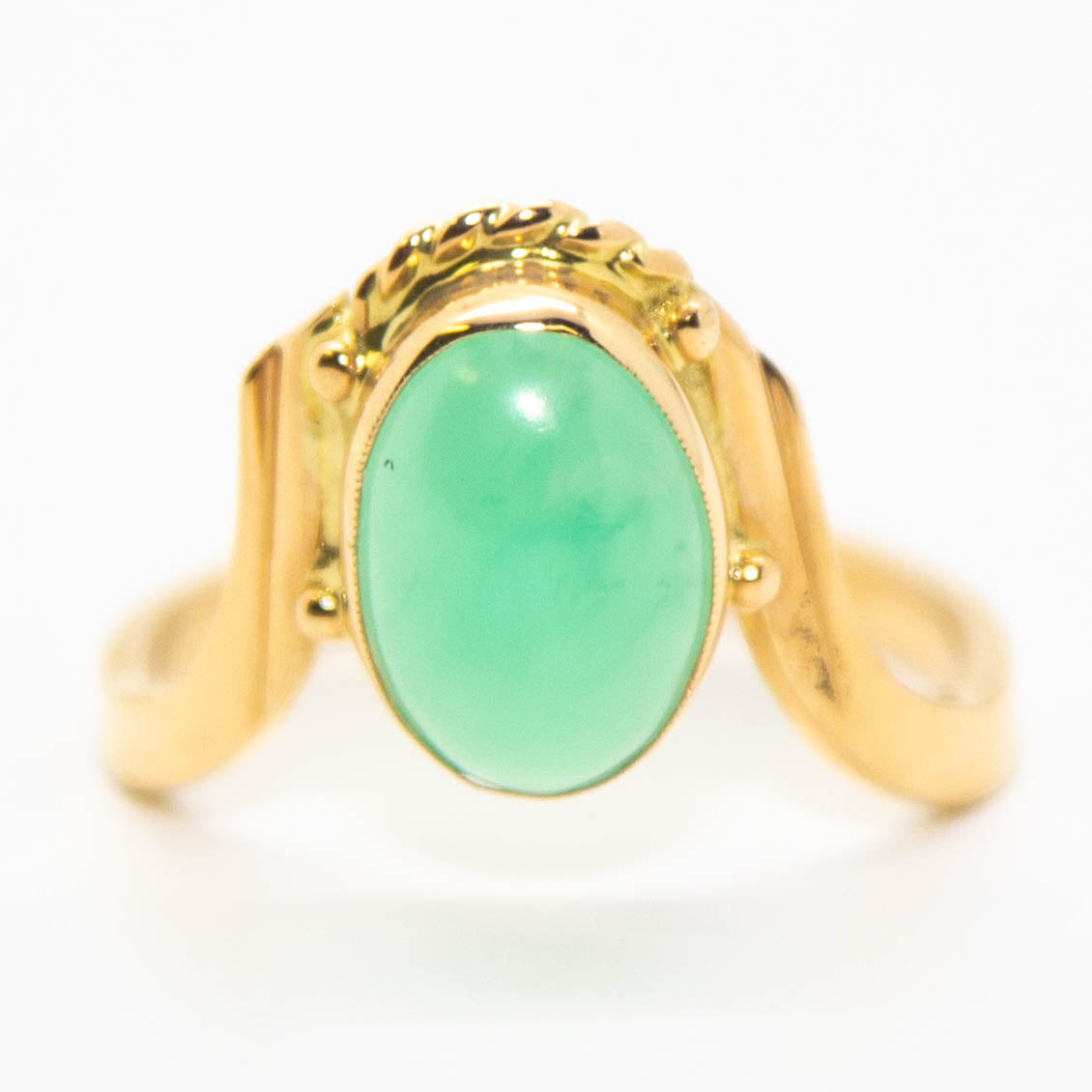 14ct Yellow Gold and Jade Ring