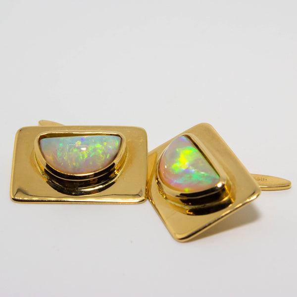 18ct Boulder Opal Cuff Links