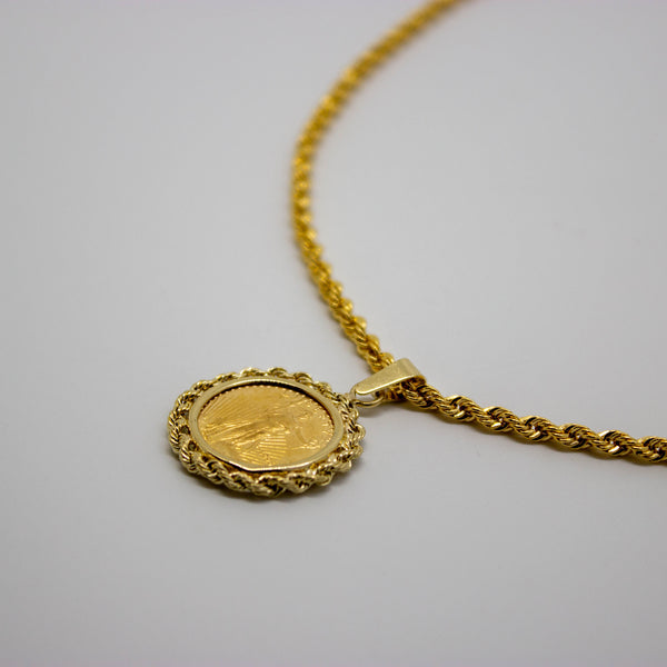 14ct Gold Coin Pendant