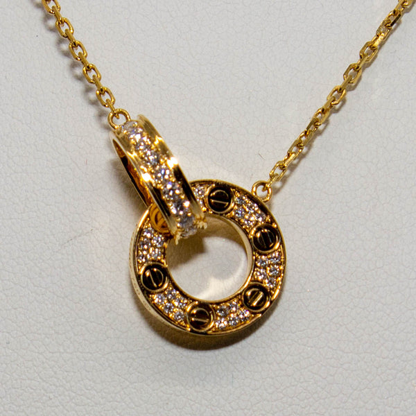 18ct Yellow Gold Diamond Necklace 0.45ct