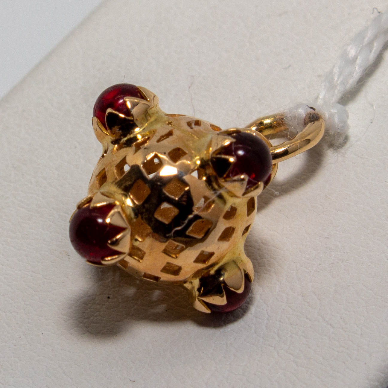 18ct Rose Gold Garnet Orb Pendant