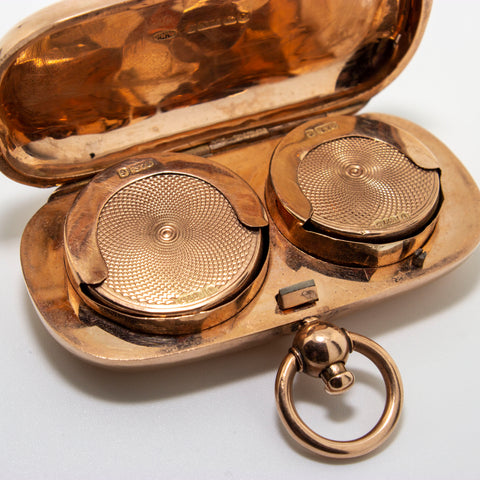 9ct Rose Gold Sovereign & Half Sovereign Case