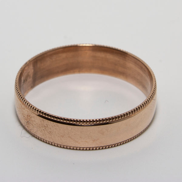 9ct Rose Gold Milgrain Ring