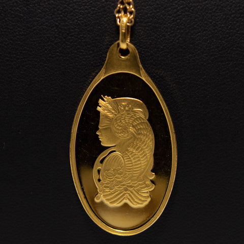 99.99 PAMP Lady Fortuna 10g Fine Gold Pendant