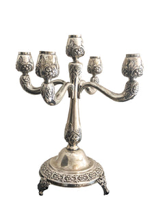Sterling Silver  Five Arm  Candelabra