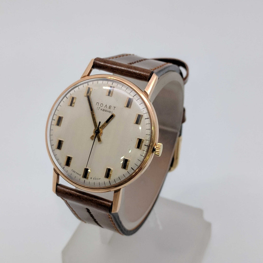 POLJOT 14ct Yellow Gold SOVIET RUSSIAN WATCH