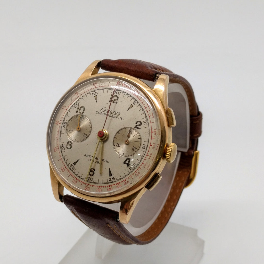 Exactus 18ct Rose Gold Watch 1950's