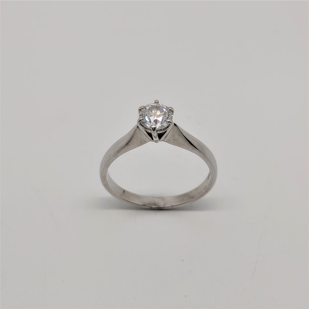 18ct Yellow Gold Diamond Solitaire Ring 0.55ct