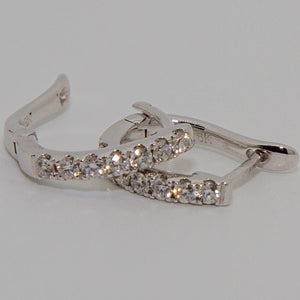 18ct white gold diamond earrings #33