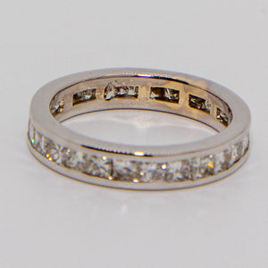 18ct White Gold Princess Cut Diamond Band
