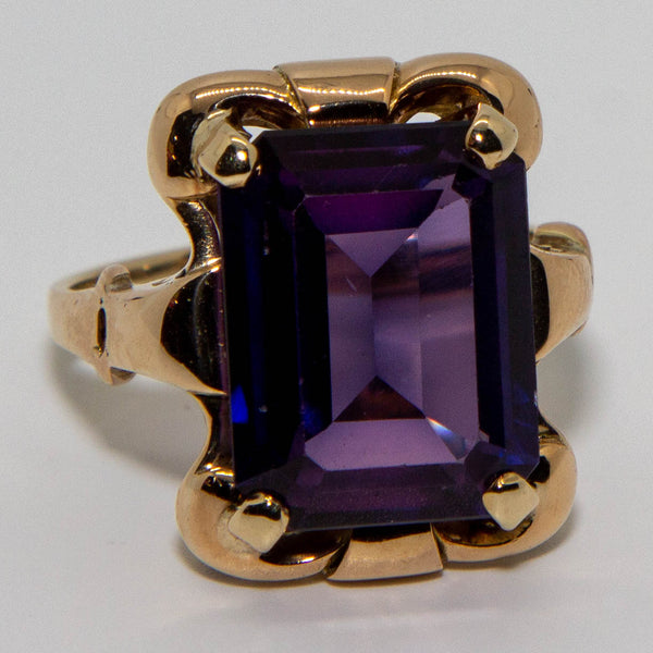 9ct Yellow Gold Sapphire Vintage Ring
