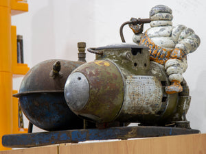 Circa 1920's Michelin Man Air Compressor - in Original Condition