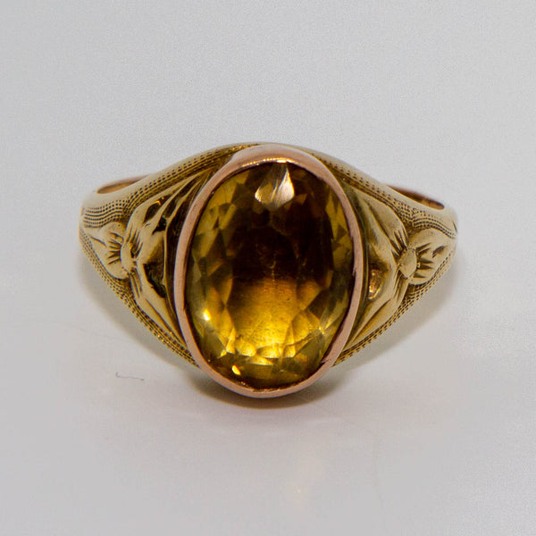 9ct yellow and Rose Citron Ring