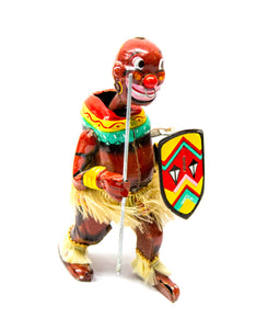 Pango African Warrior Dancer Tin Toy