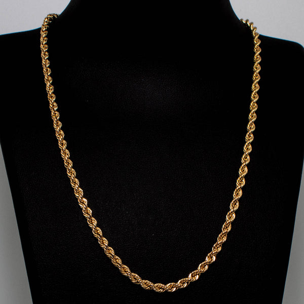 9ct Yellow Gold Rope Chain- 3mm