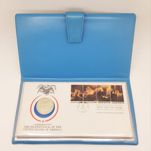1976  American Bicentennial Silver Proof /  First Day Cover  PNC FDC