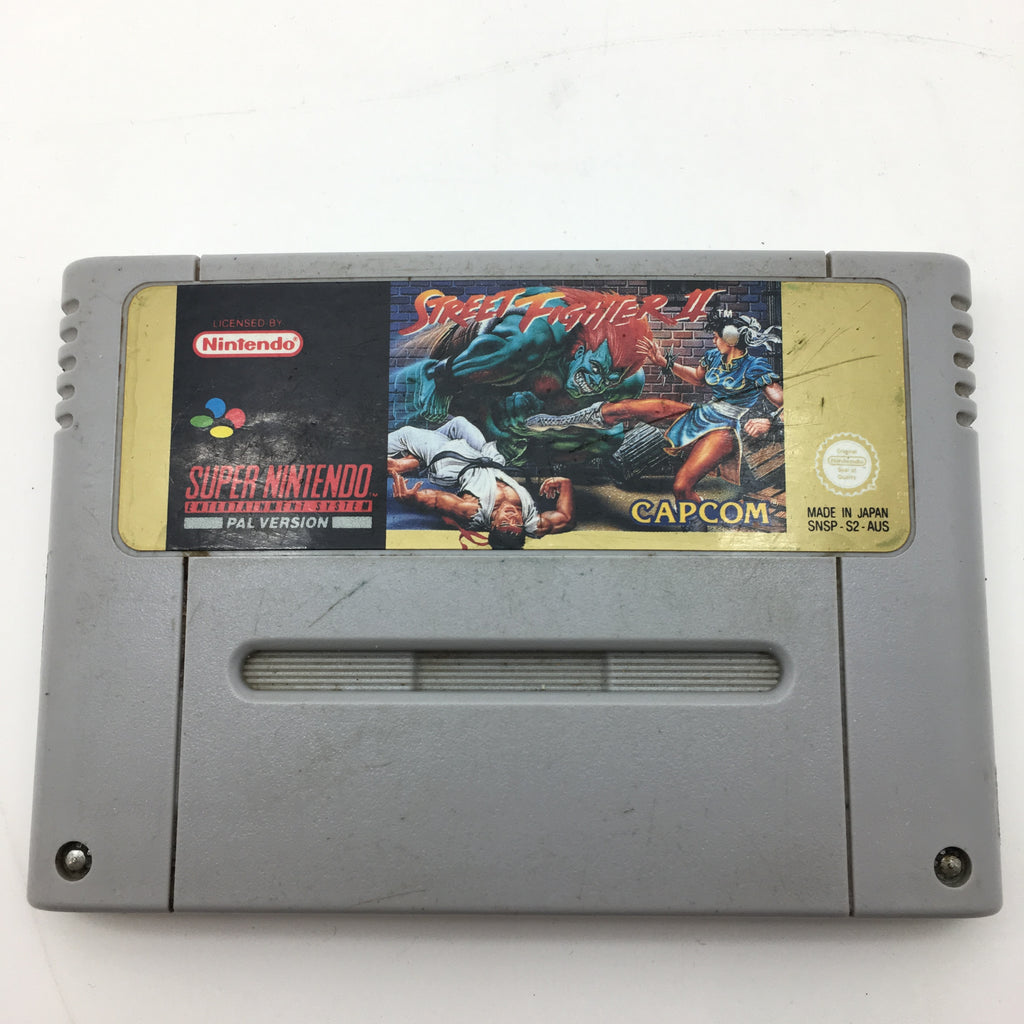 Super Nintendo Entertainment System (SNES) Game Cartridge - Street Fighter II (PAL)