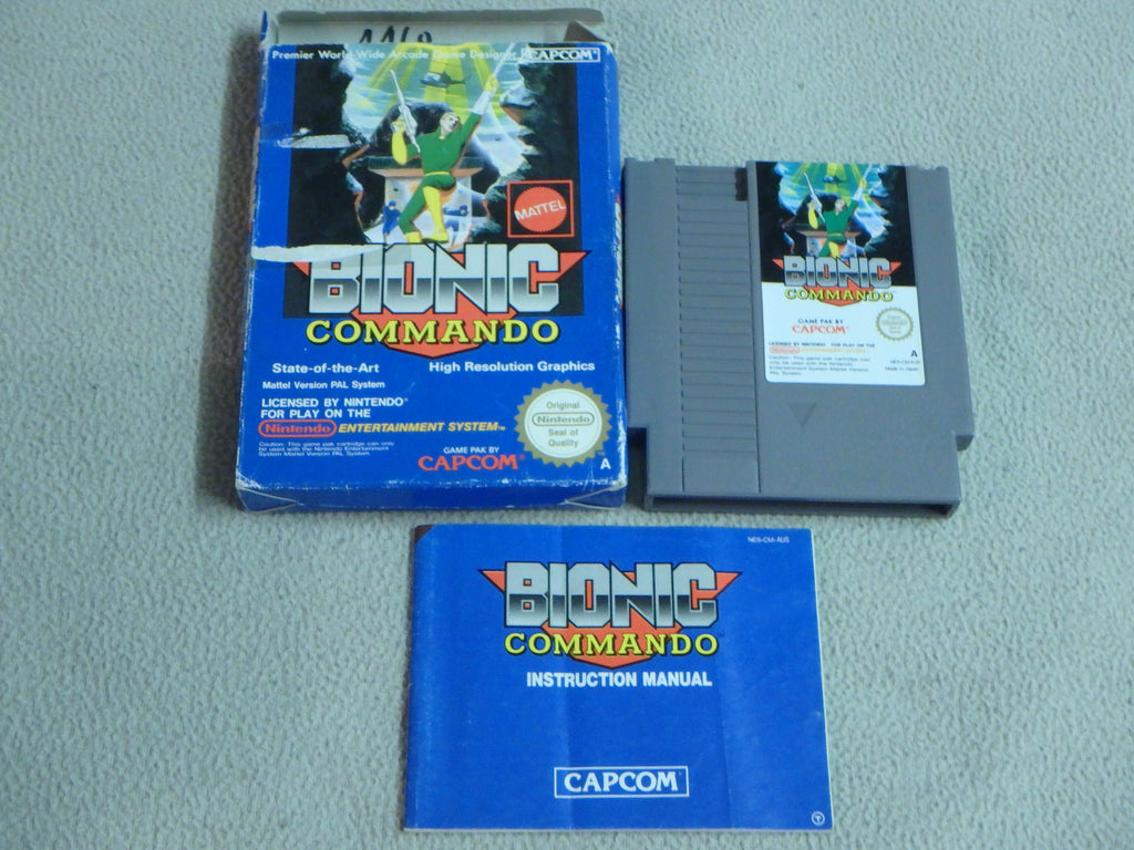 Nintendo Entertainment System (NES) Game Cartridge - Bionic Commando