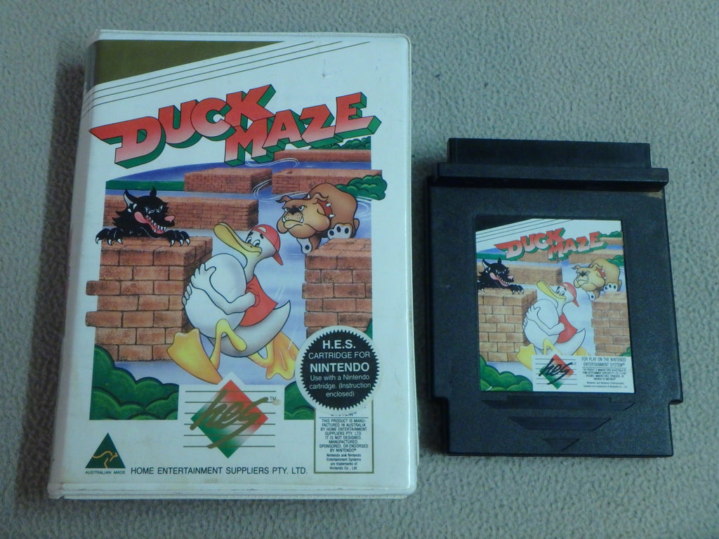Nintendo Entertainment System (NES) Game Cartridge - Duck Maze