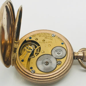 Waltham Full Hunter Pocket Watch with Fob Chain