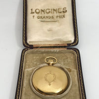 Longines 18ct Yellow Gold Full Hunter Pocket Watch in Original Case