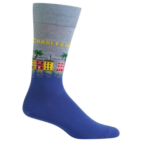 Men's Travel Themed Crew Socks - Charleston