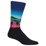 Men's Travel Themed Crew Socks - Hollywood