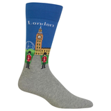 Men's Travel Themed Crew Socks - London