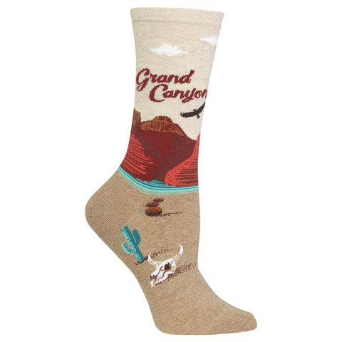 Women's Travel Themed Crew Socks - Grand Canyon
