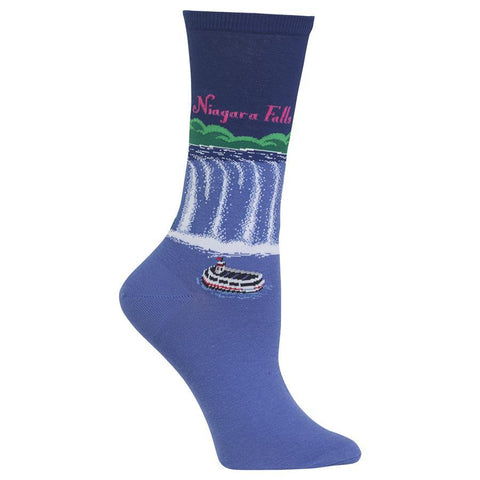 Women's Travel Themed Crew Socks - Niagara Falls