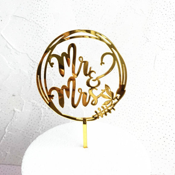 Gold Wedding Cake Topper