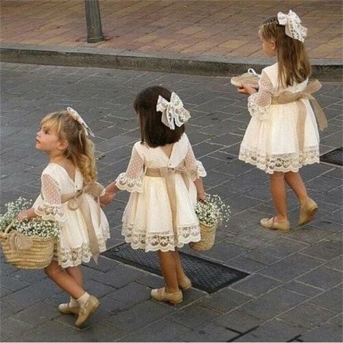 Cute White Flower Girl Dress With Bow